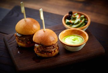 Char-grilled Iberico Pork and Foie Gras Burgers from 22 Ships
