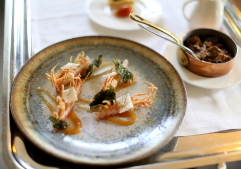 This half fried, half raw prawn dish is fantastic. A favourite of the chef it is signature on the Spiga menu.