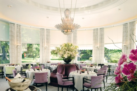 The gorgeous one-Michelin starred Pavillon restaurant in the Bar au Lac - the best hotel in Zurich.
